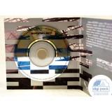 Диджипак для mini-CD диска с прорезью под визитку